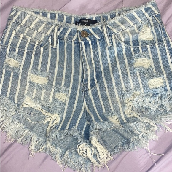 Forever 21 Pants - Forever 21 striped shorts